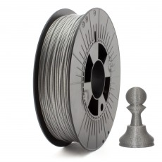 PLA Filament Metallic Glitter 1,75mm silbergrau 750g